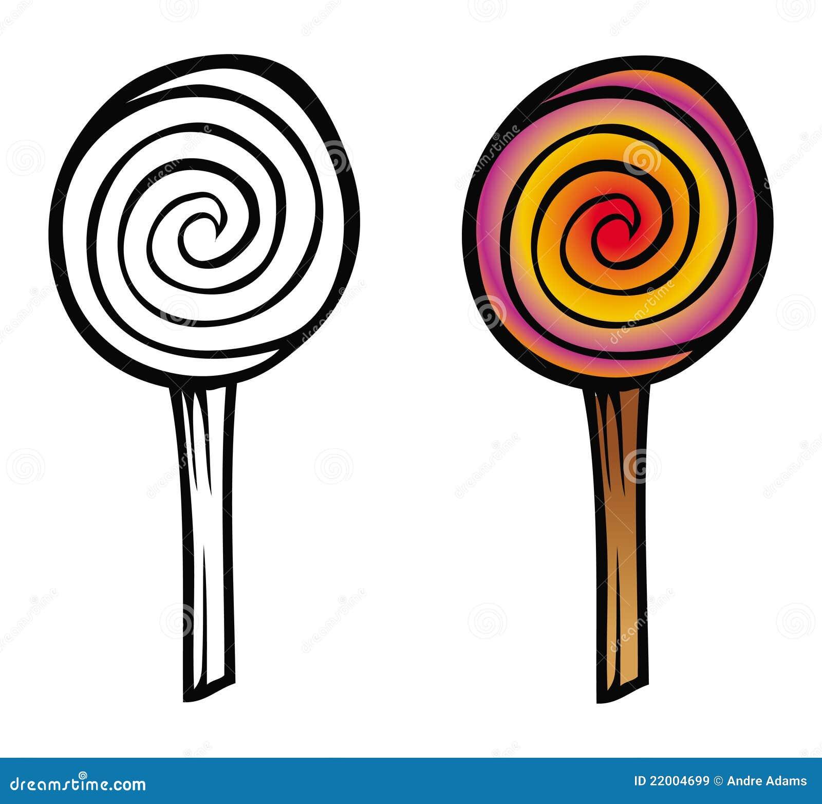 Livro De Coloracao Do Lollipop Ilustracao Do Vetor Ilustracao De