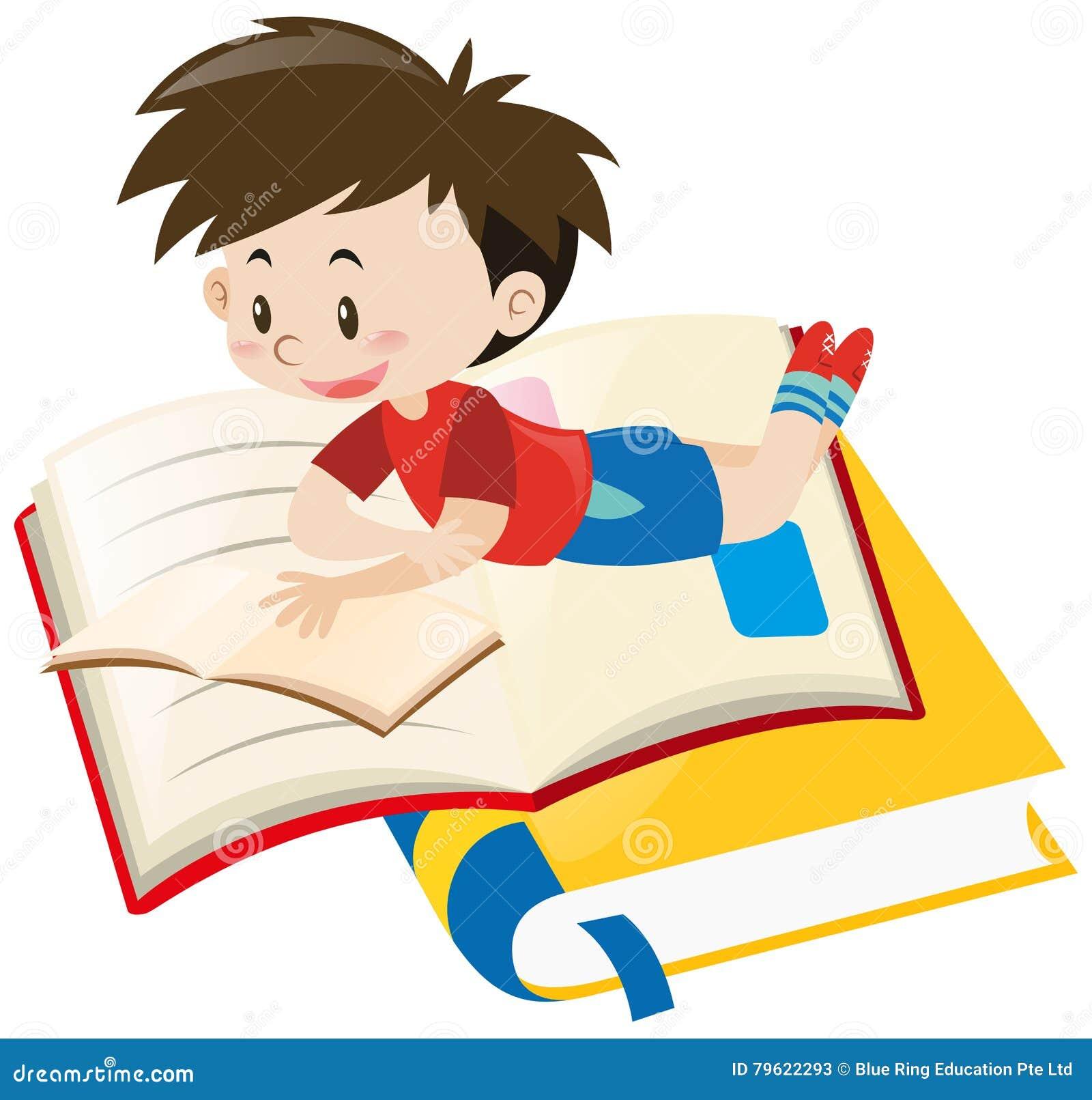 Livro de leitura do menino apenas