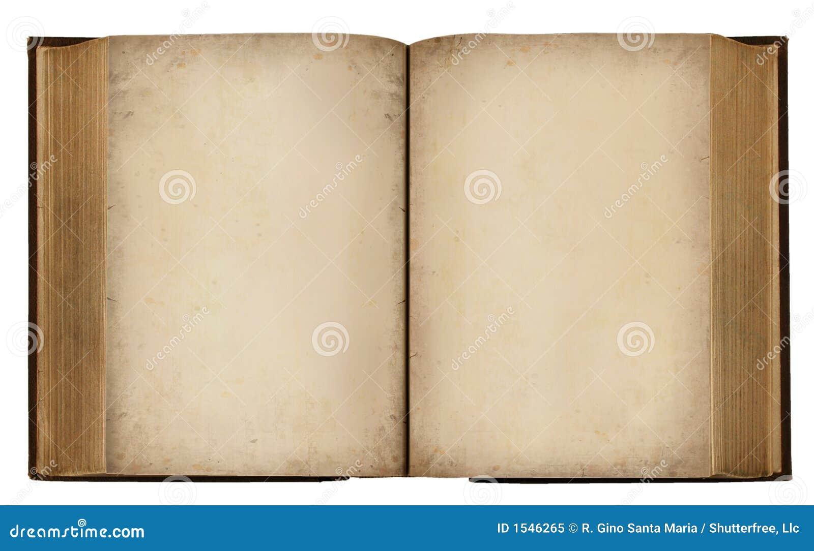 Livro Em Branco Do Vintage Foto de Stock Royalty Free - Imagem: 1546265