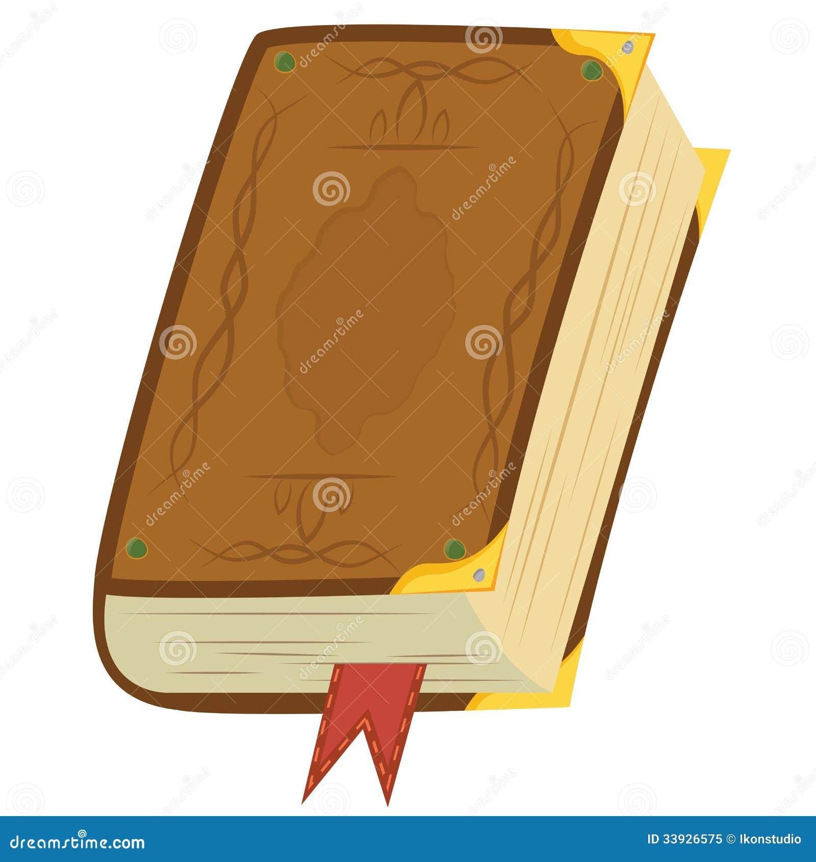 Livro mágico de couro