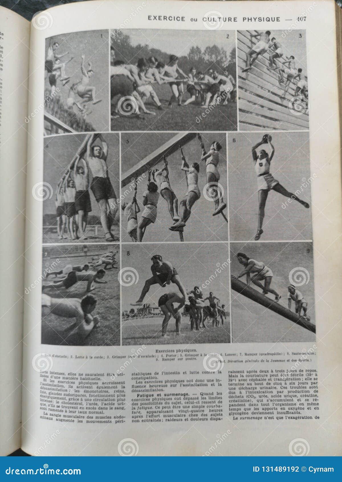 Livro médico francês velho com ilustrações