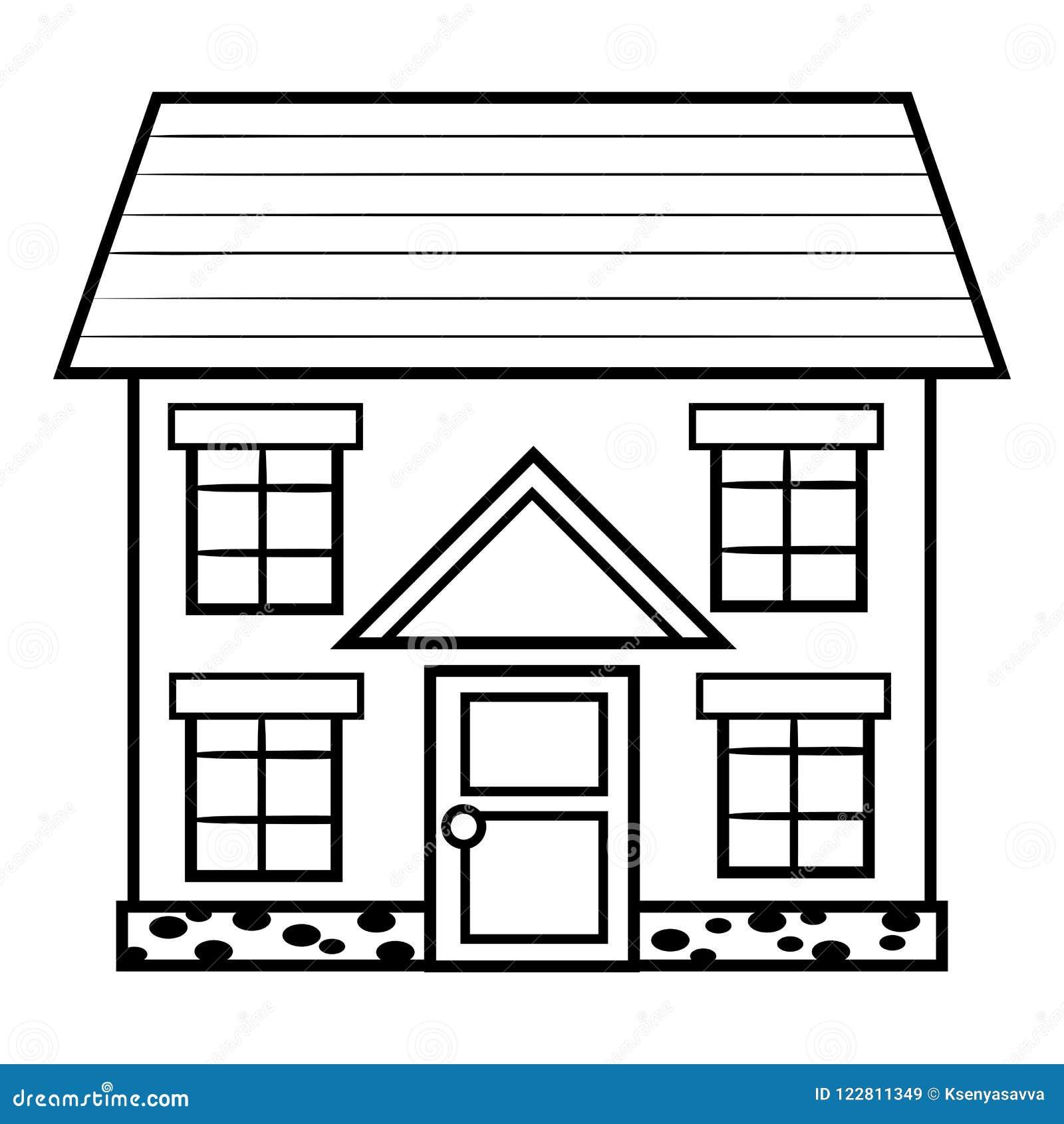 Livro Para Colorir Casa Ilustracao Do Vetor Ilustracao De Casa
