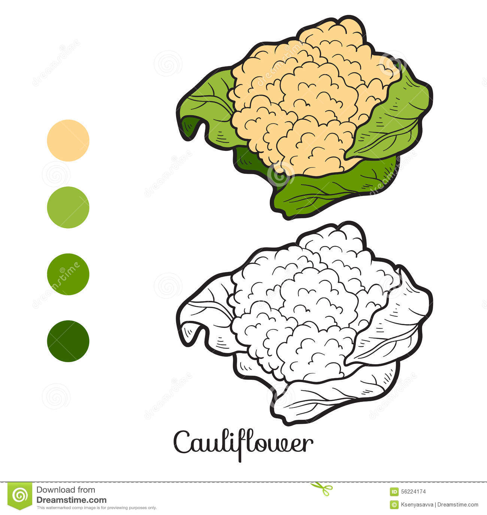 Livro para colorir frutas e legumes couve flor for Frutta da colorare e ritagliare