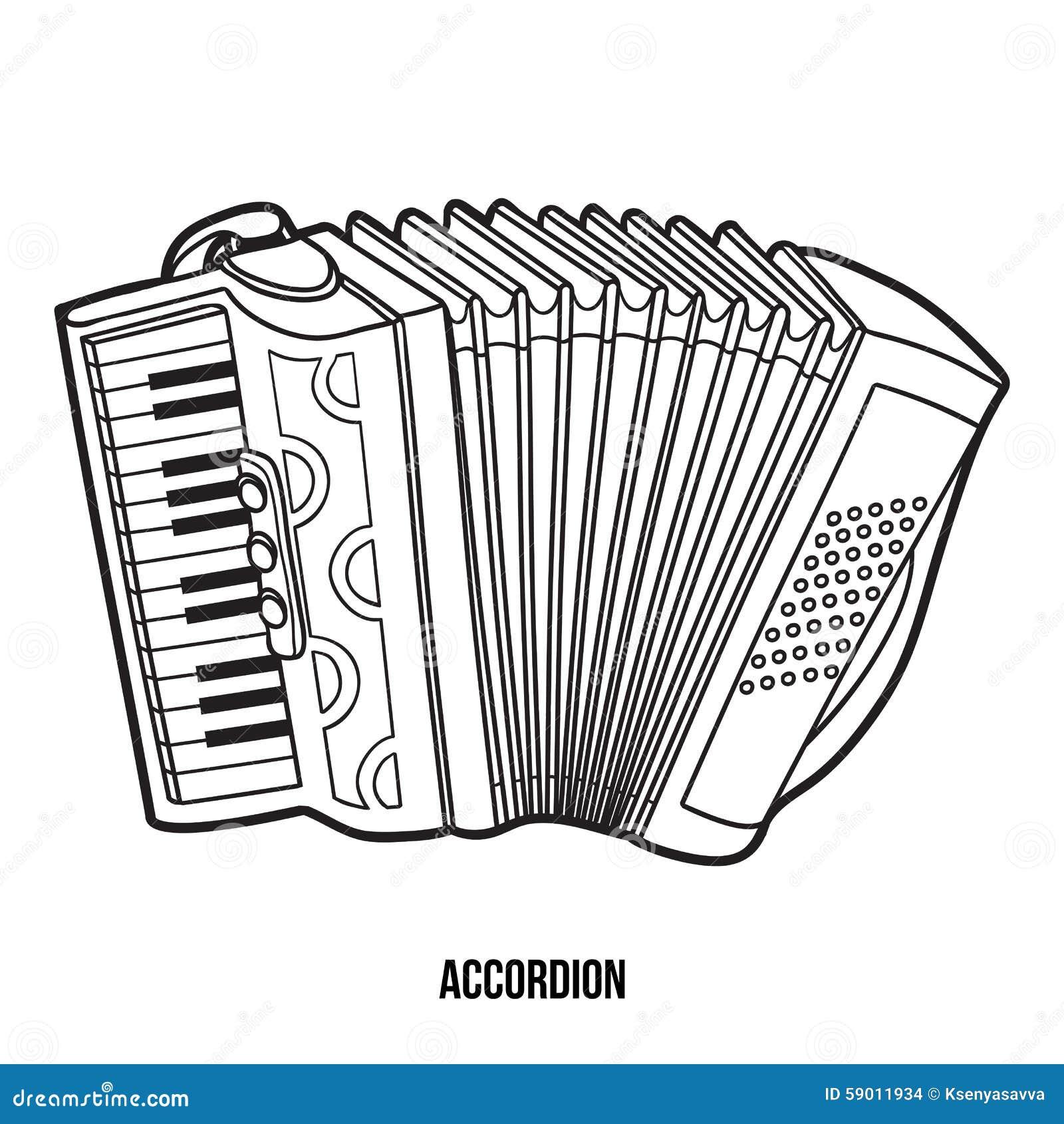 Livro Para Colorir: Instrumentos Musicais (acordeão