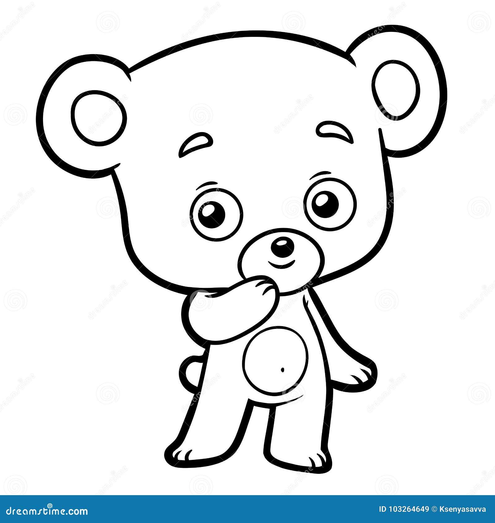 Livro Para Colorir Pouco Urso Ilustracao Do Vetor Ilustracao De