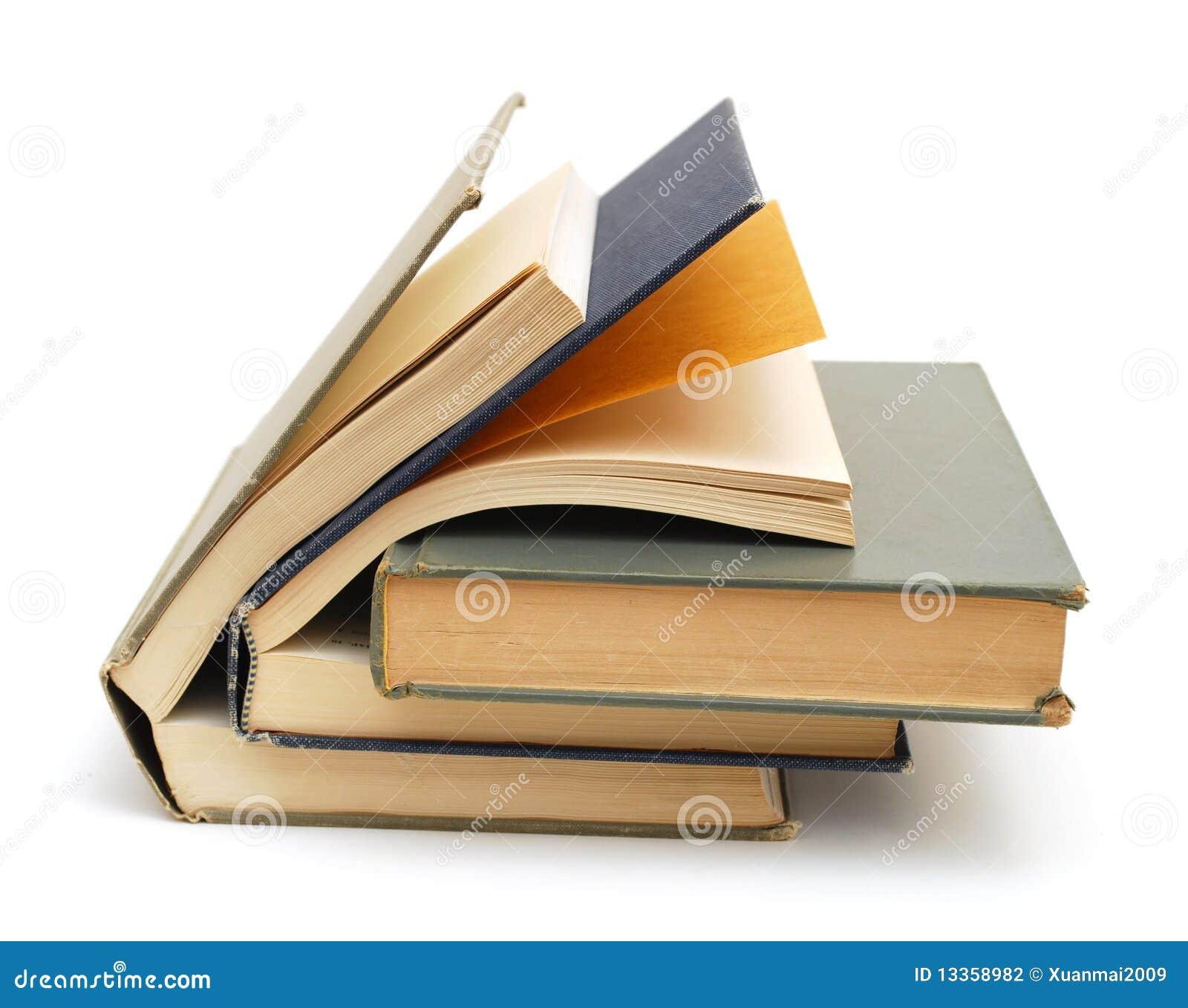 Livros de texto envelhecidos