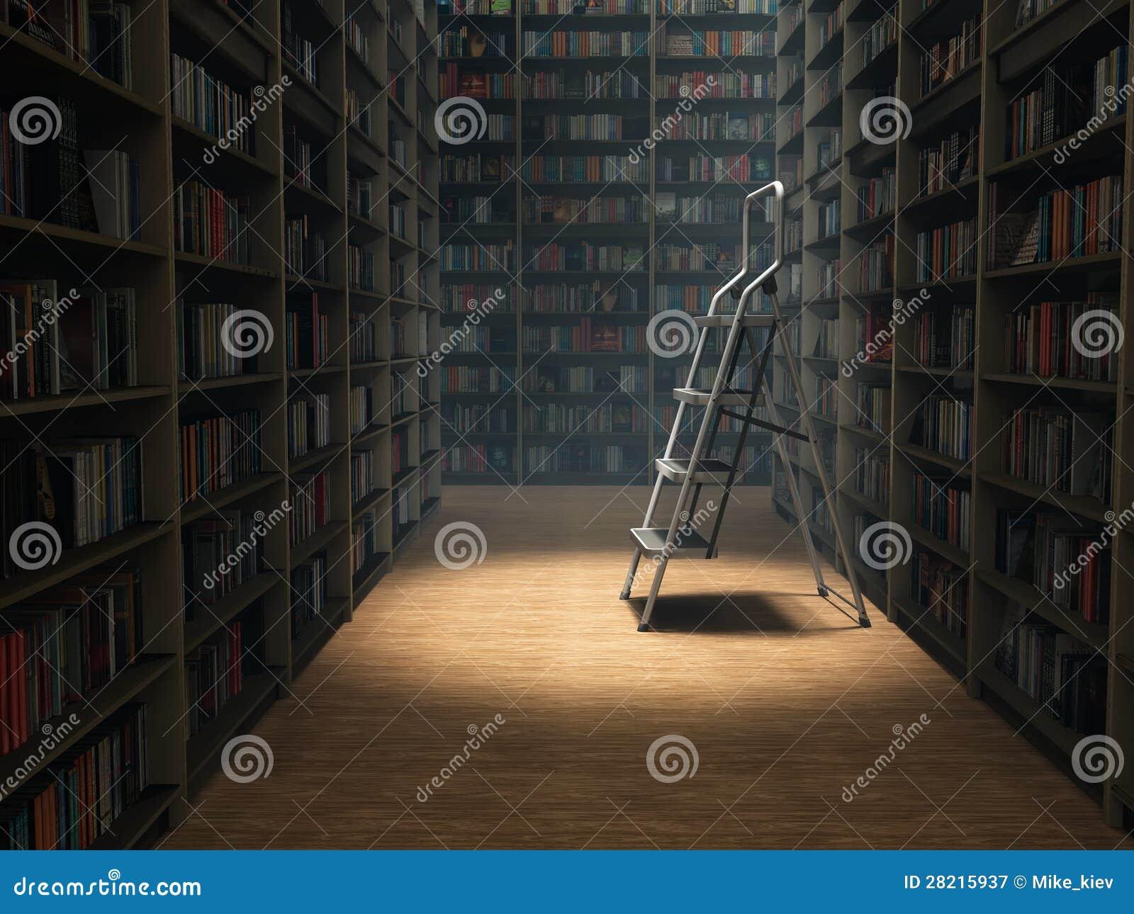 Livros na biblioteca