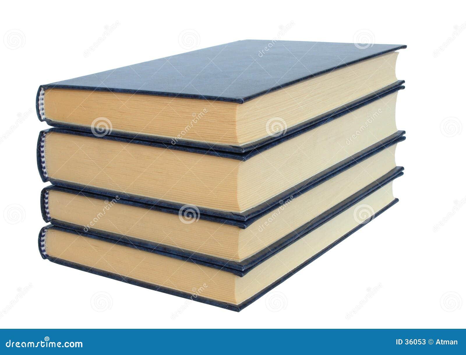 Livros no fundo branco