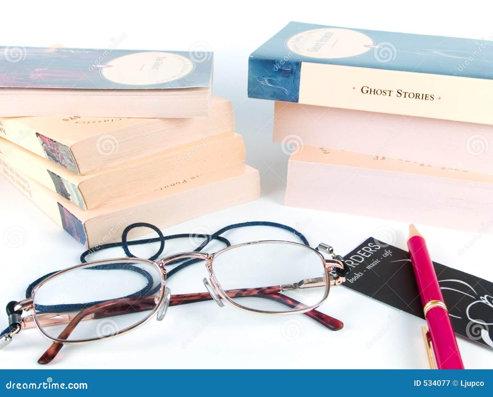 Livros, vidros e pena