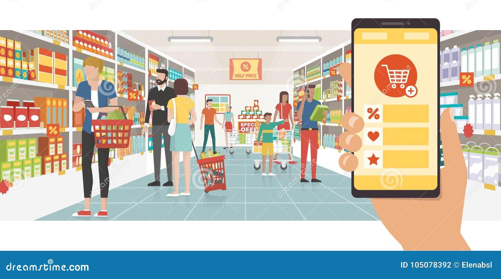 Livsmedelsbutikshopping app