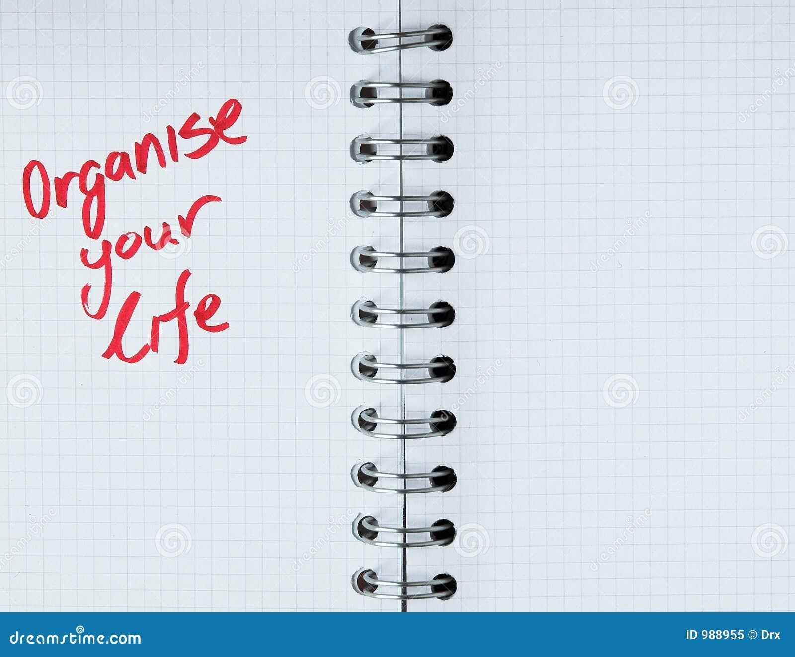 Livstidsanmärkningsanteckningsboken organiserar ditt