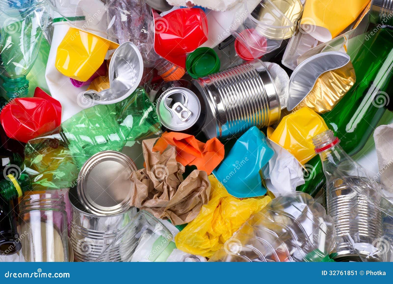 Lixo que pode ser recicl