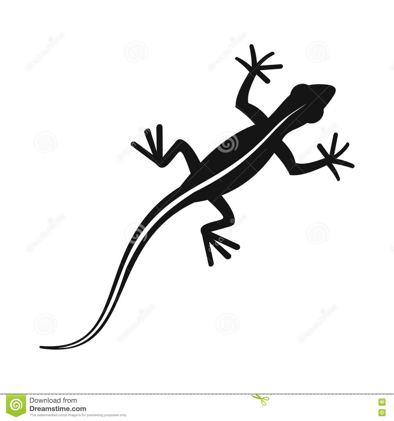 6c3f668e7d8d3 Lizard icon in simple style isolated vector illustration. Reptiles symbol