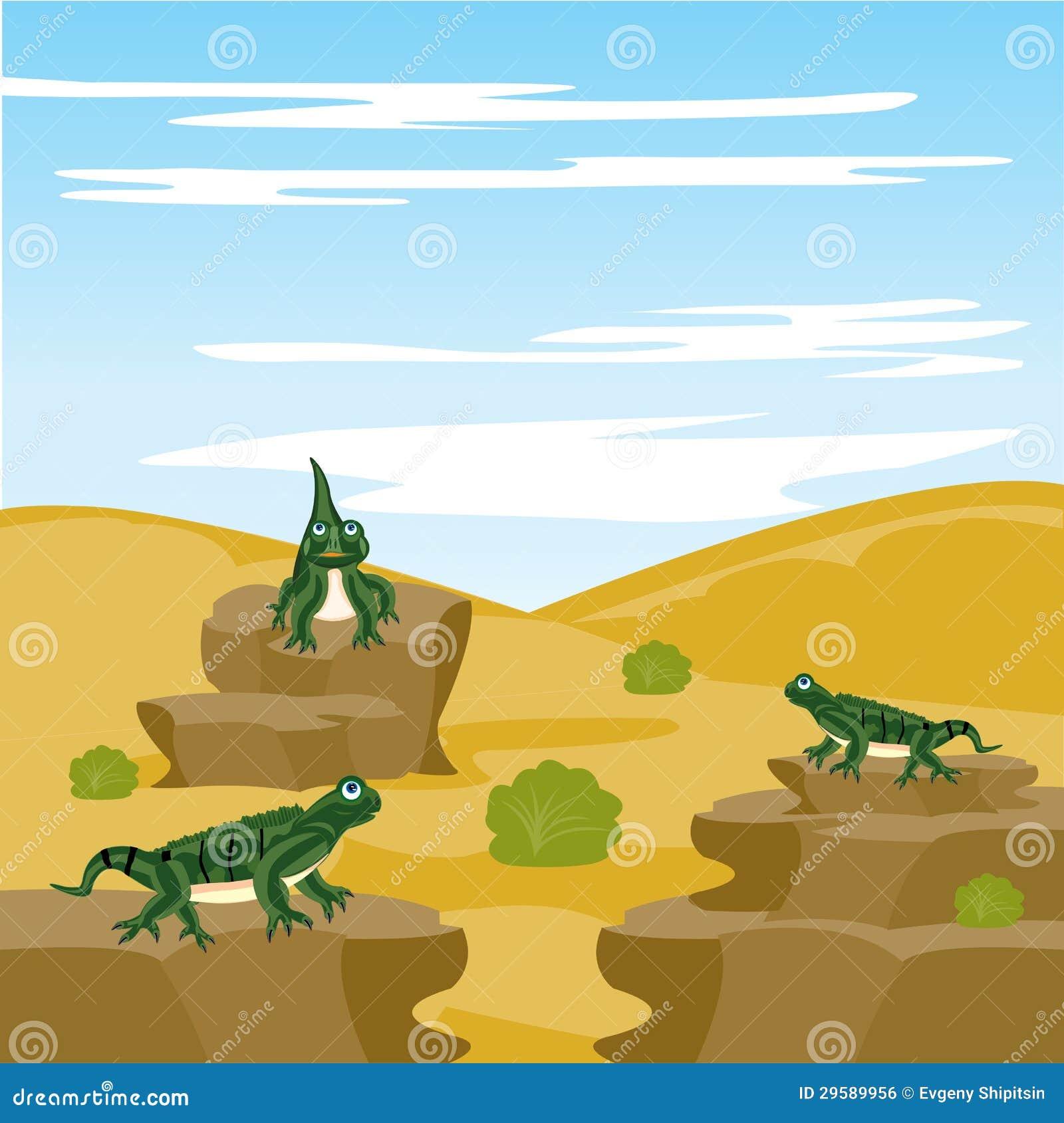 Vector Desert Iguana Cartoon Vector | CartoonDealer.com ...