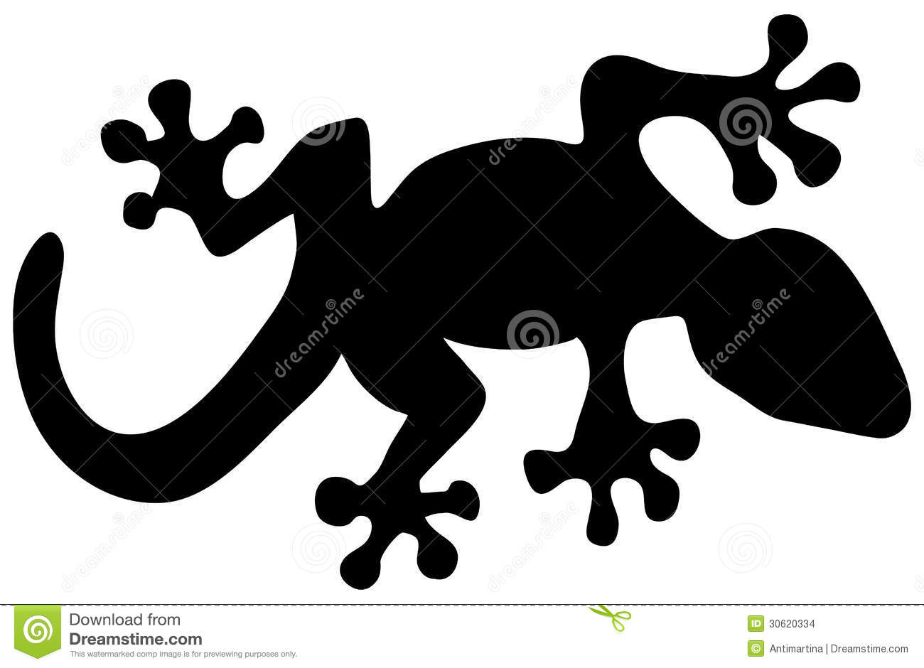 Lizard Silhouette Stock Images Image 30620334