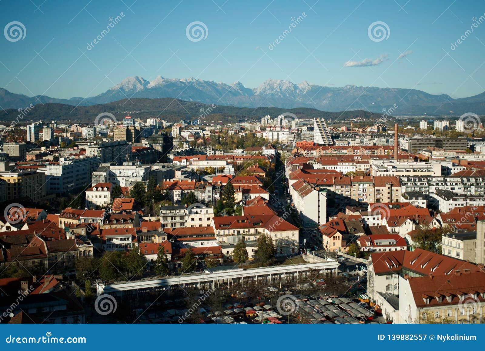 Ljubjana, de hoofdstad van Slovenië
