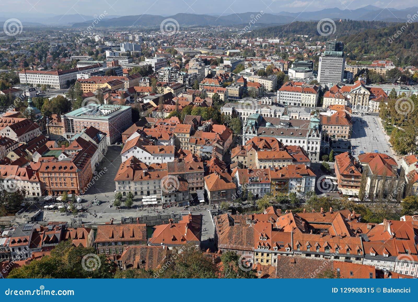 Ljubljana aérienne Slovénie