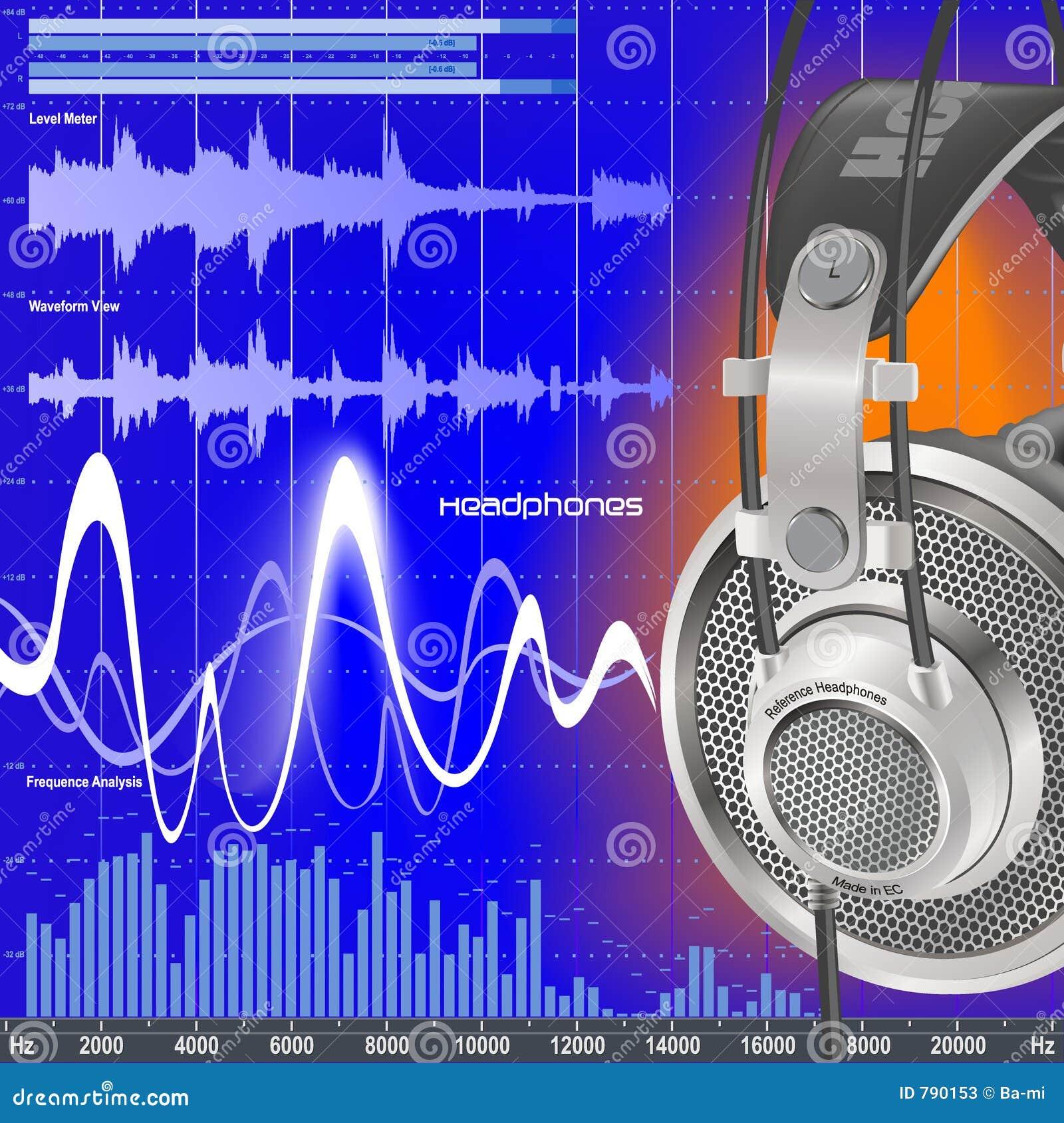 Ljudsignal utjämnarehörlurar