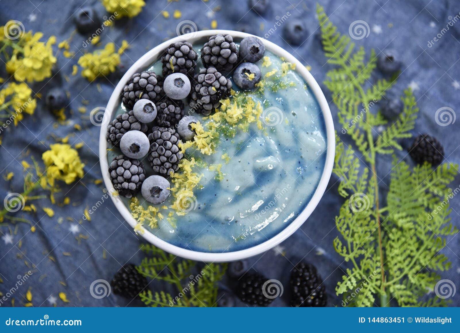 Ljus blå Superfood Smoothiebunke