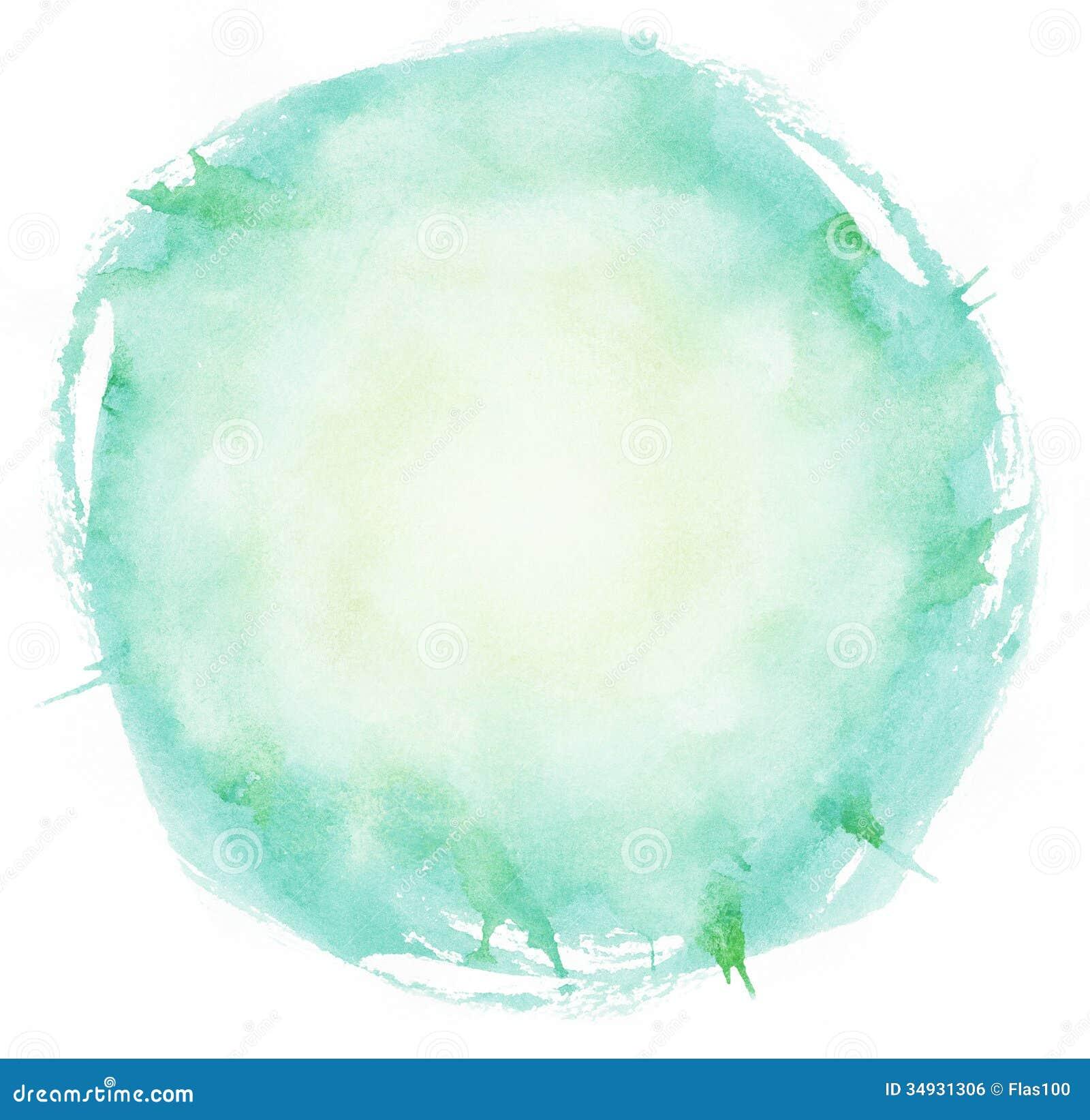 Ljus cirkel för vattenfärgborsteslaglängder