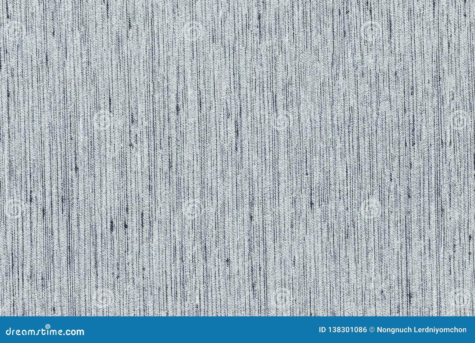 Ljus Closeup som är svartvit eller - grå bakgrund för textur för färgtygprövkopia Ljust - grå remsalinje tygmodelldesign eller up