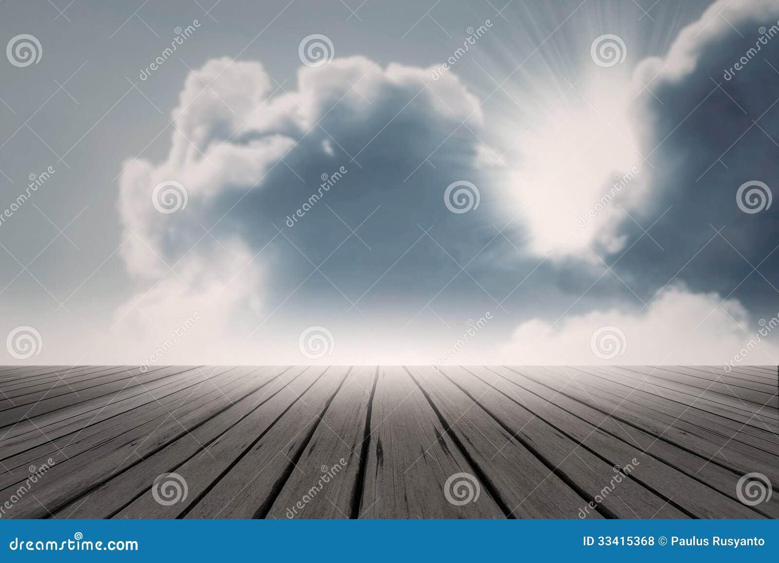 Ljus för panelljus för strålsolmoln magiskt - blå himmel