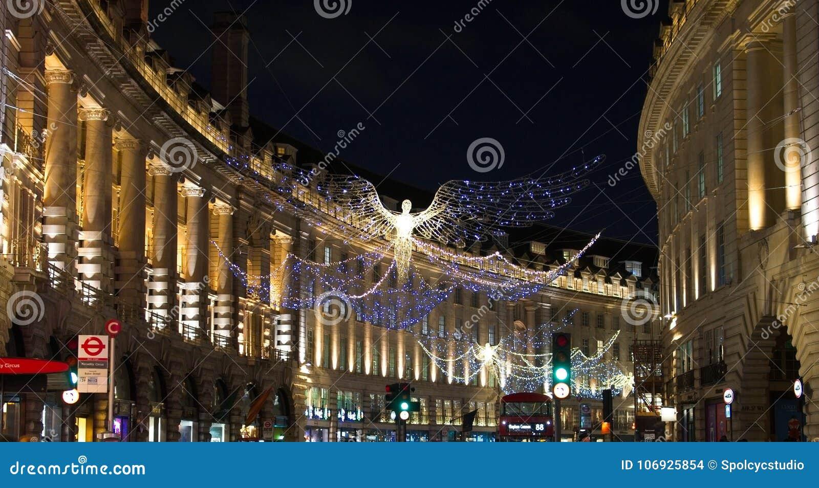 """Ljus för ` s för jul 2017†""""London vibrerande festliga"""