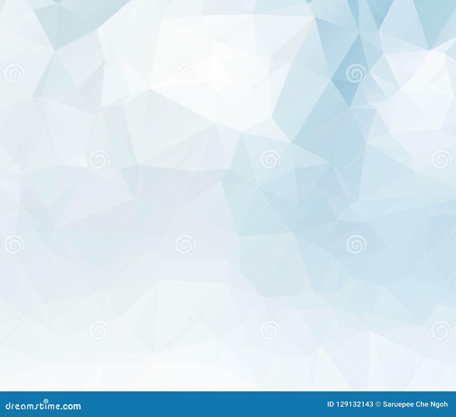 Ljus - för triangelbakgrund för blå vektor oskarp design Geometrisk bakgrund i origamistil med lutning