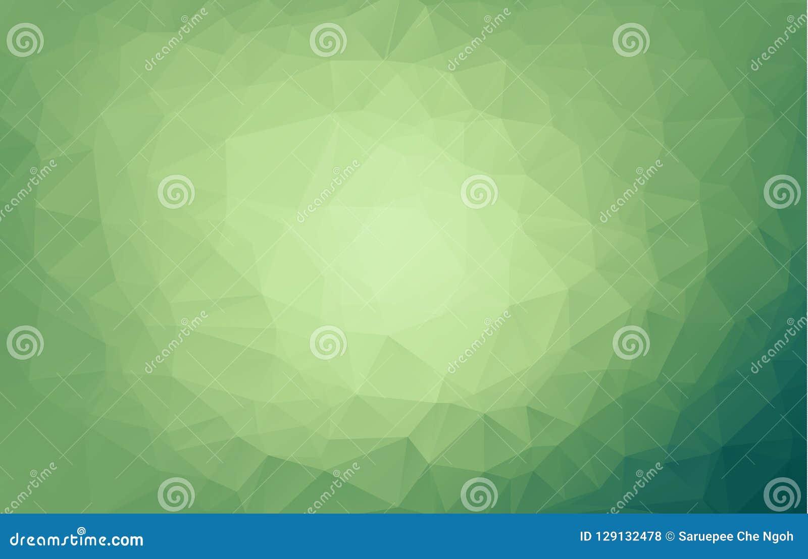 Ljus - oskarp triangelbakgrund för grön vektor En elegant ljus illustration med lutning En fullständigt ny design för din busi
