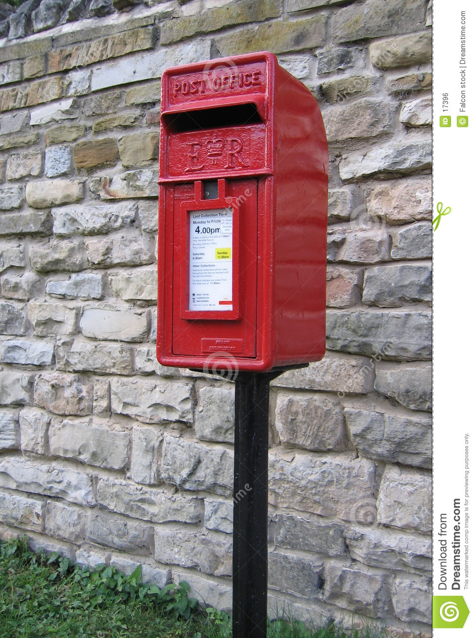 Ljus postbox röd uk