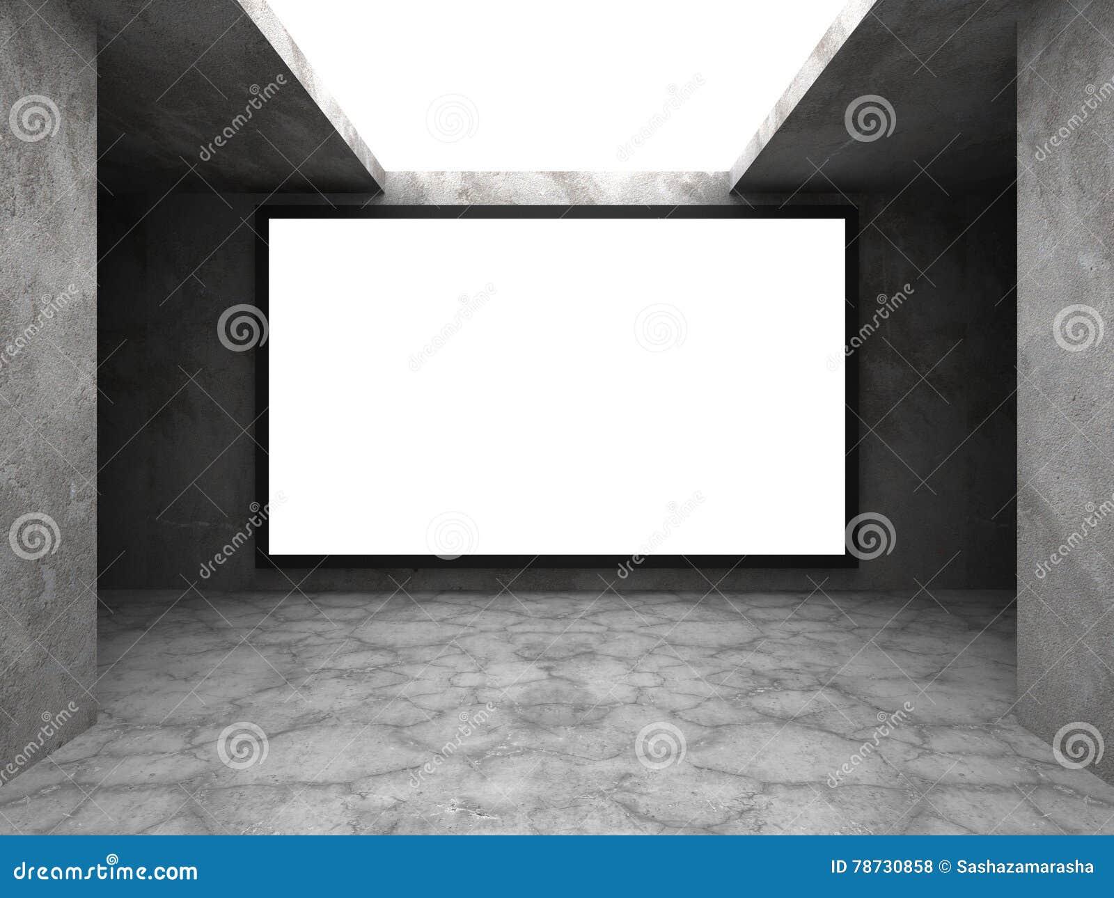 Ljus softboxaffischtavla för advertizing på betongväggen