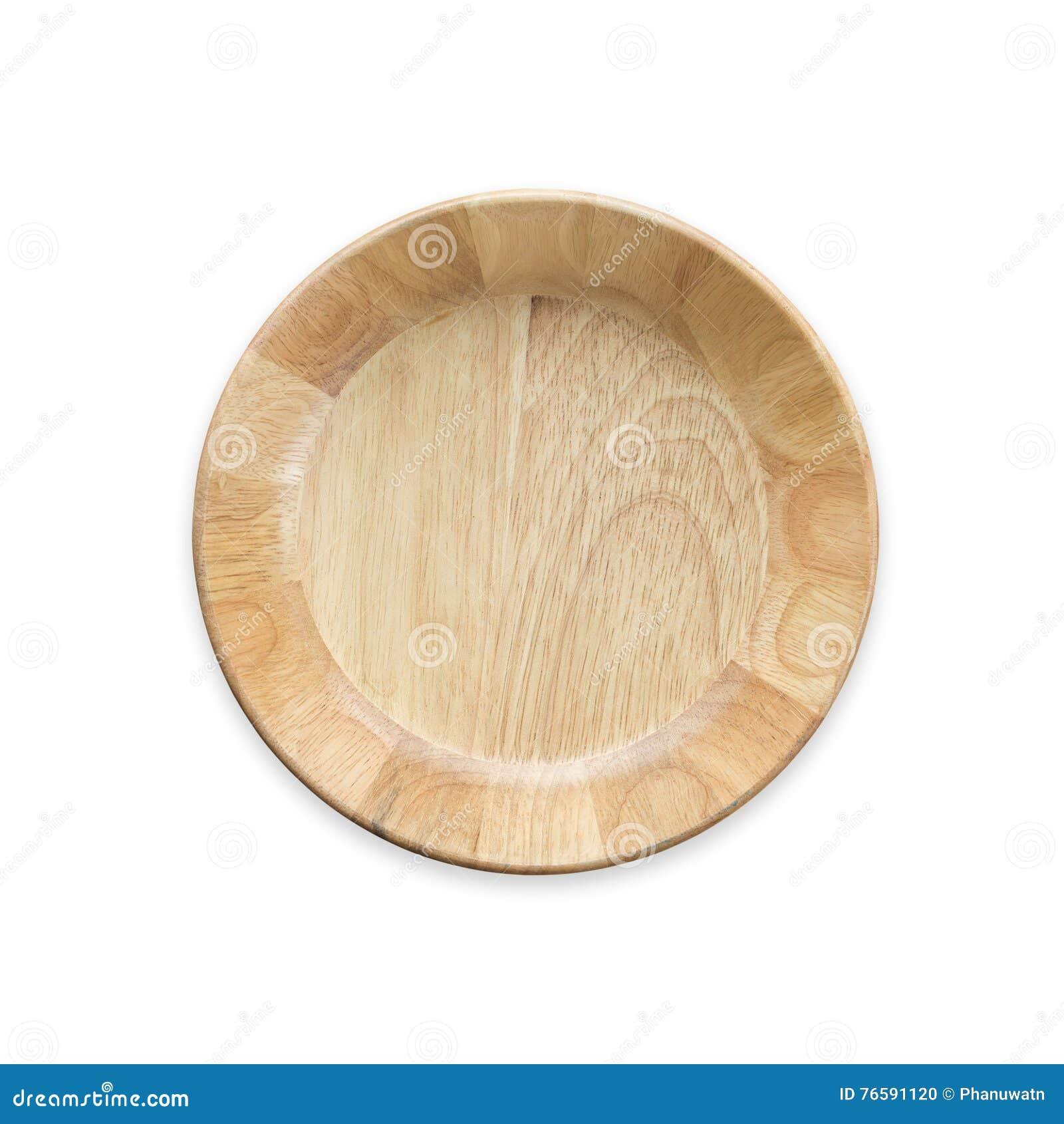 Ljus tom träbunke för bästa sikt som isoleras på vit Sparat med