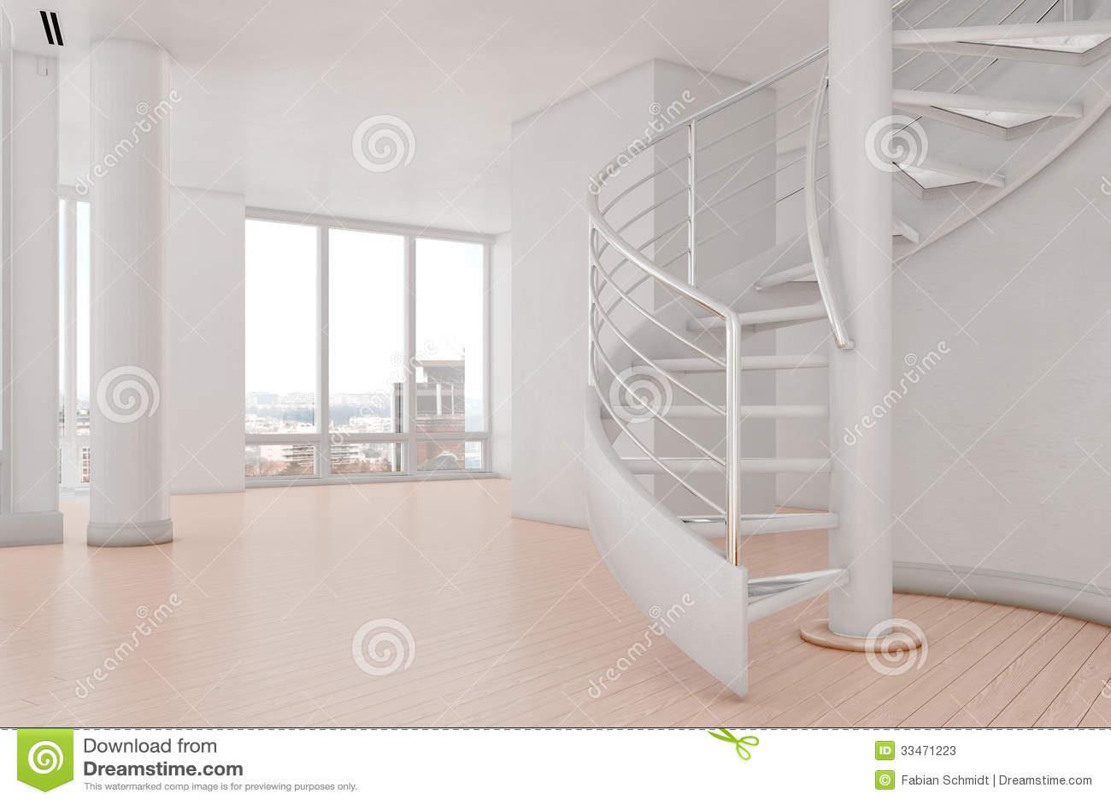 Ljus vind med spiral trappa arkivfoton   bild: 33471223