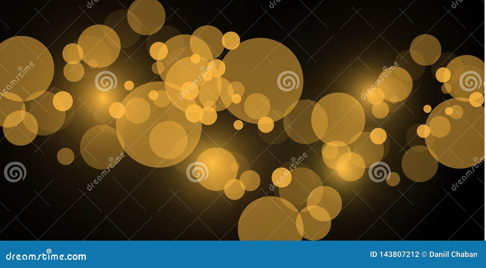 Ljusa abstrakta glödande bokehljus Bokeh tänder isolerad effekt på genomskinlig bakgrund Festlig purpurfärgat och guld-