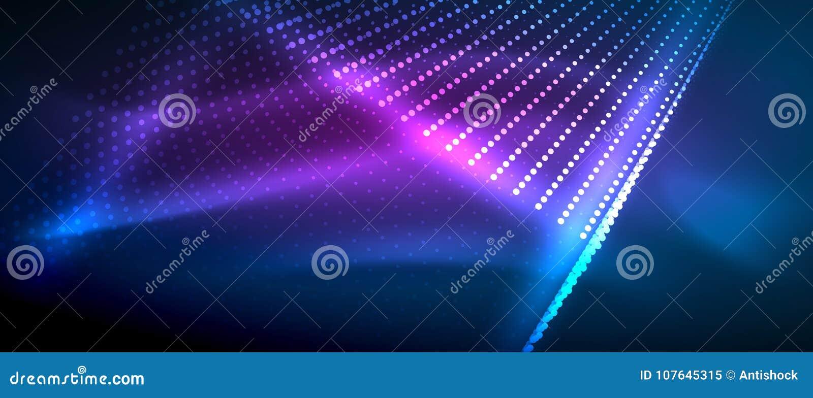 Ljusa effekter för neon, partiklar
