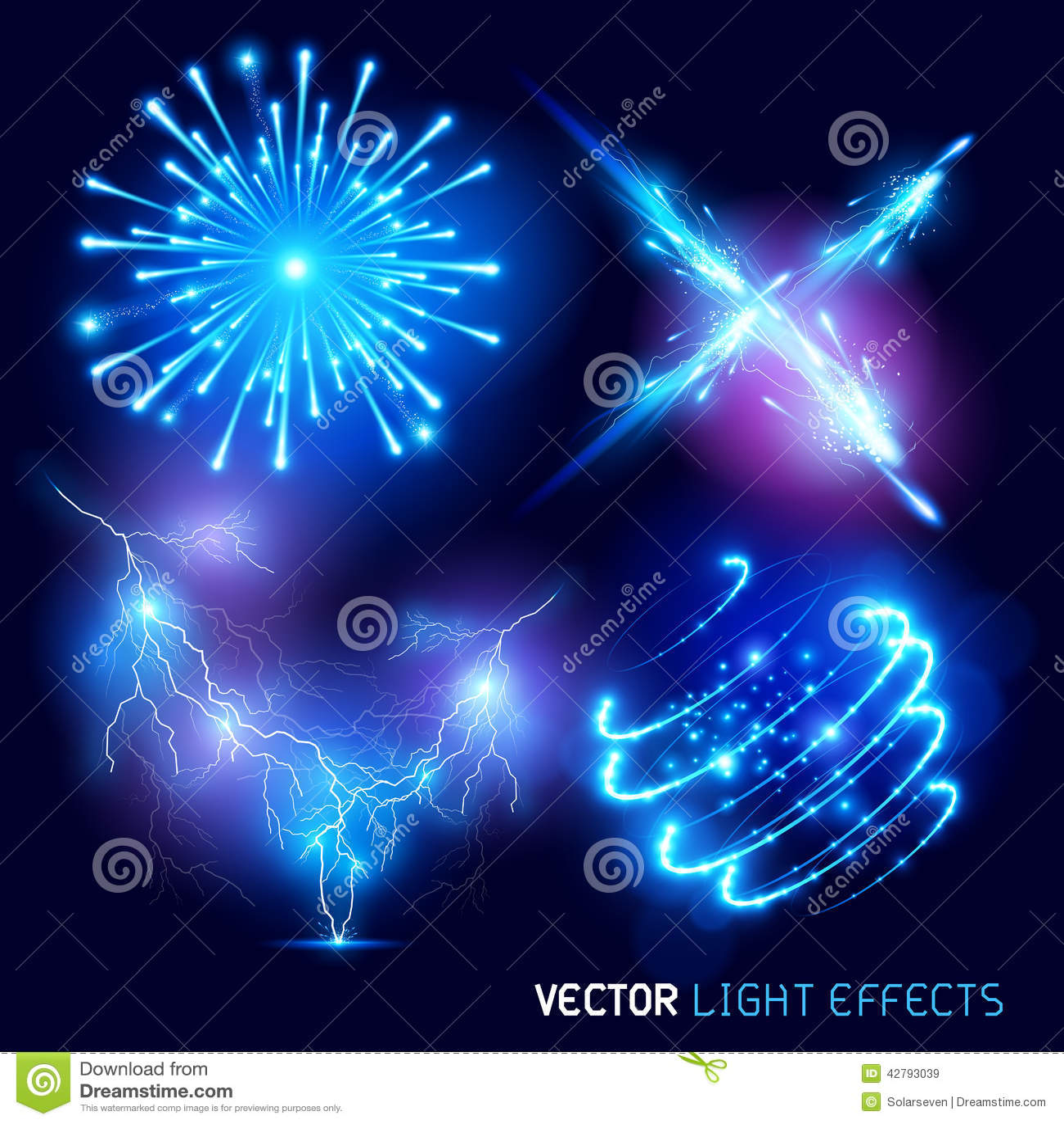 Ljusa effekter för vektor