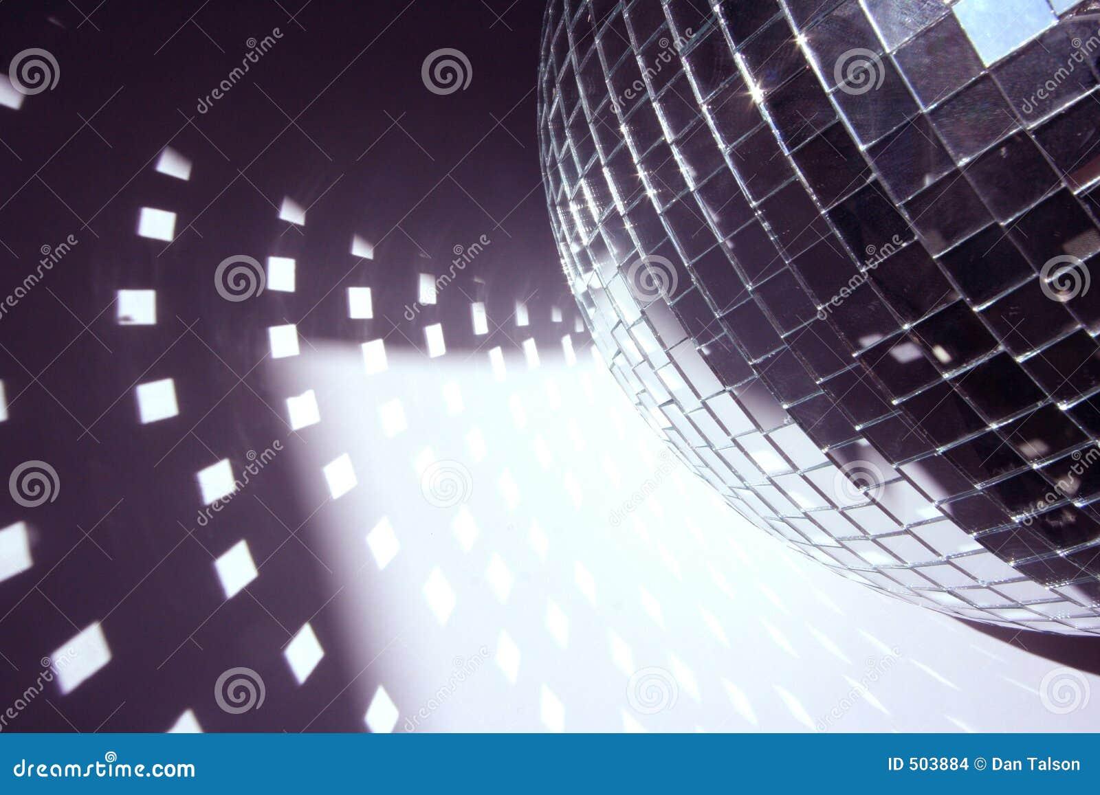 Ljusa former för glitterball