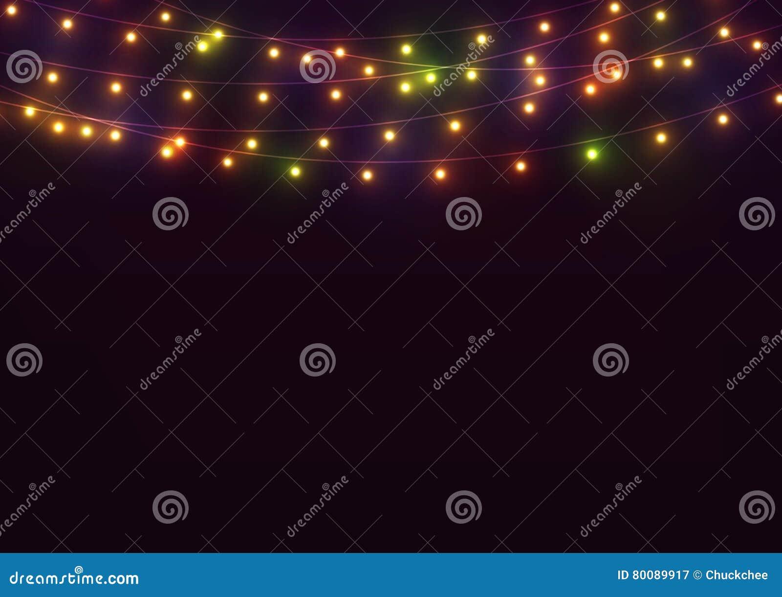 Ljusa lampor för bakgrund