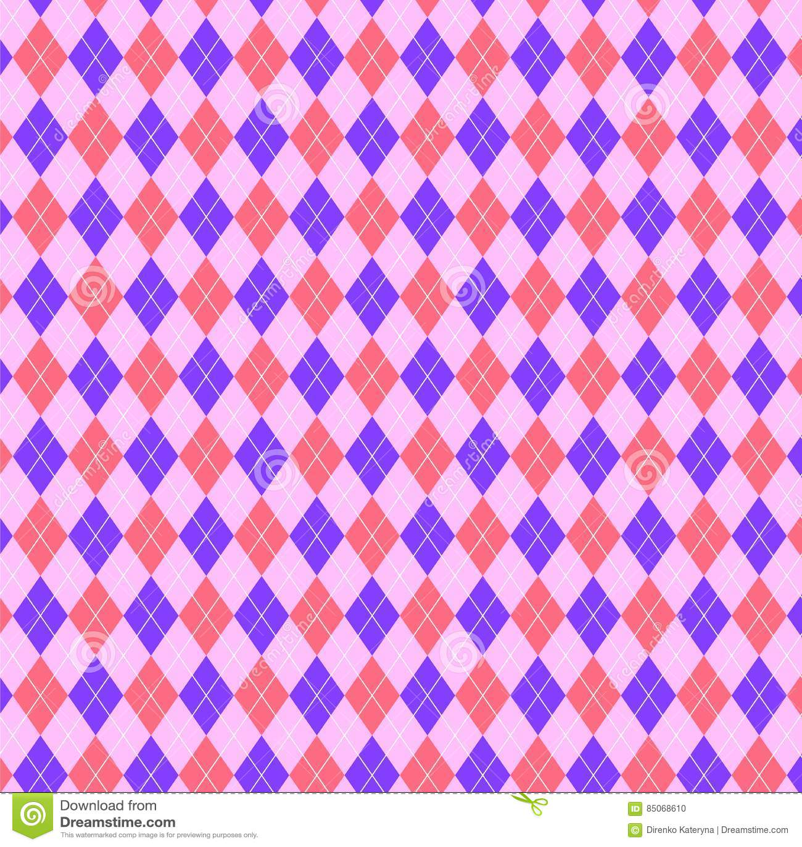 Ljusa rosa färger och purpurfärgad modell av diamanttrianglar geometrisk bakgrund