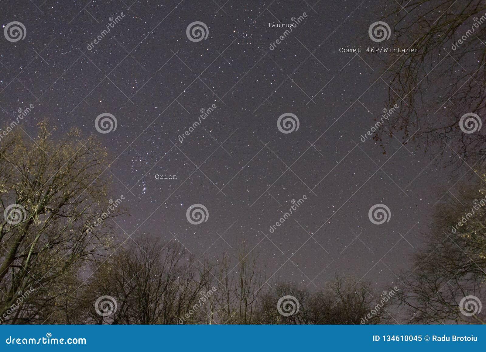 Ljusast komet för komet 46P/Wirtanen 2018 '