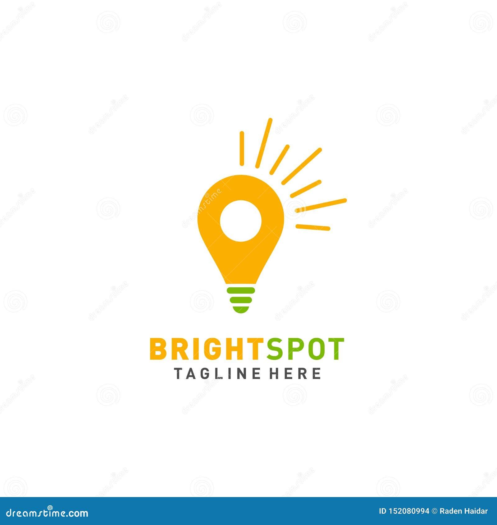 Ljuspunktlogo eller illustration för affär