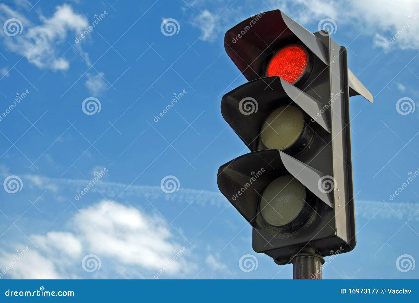 Ljusröd trafik för färg