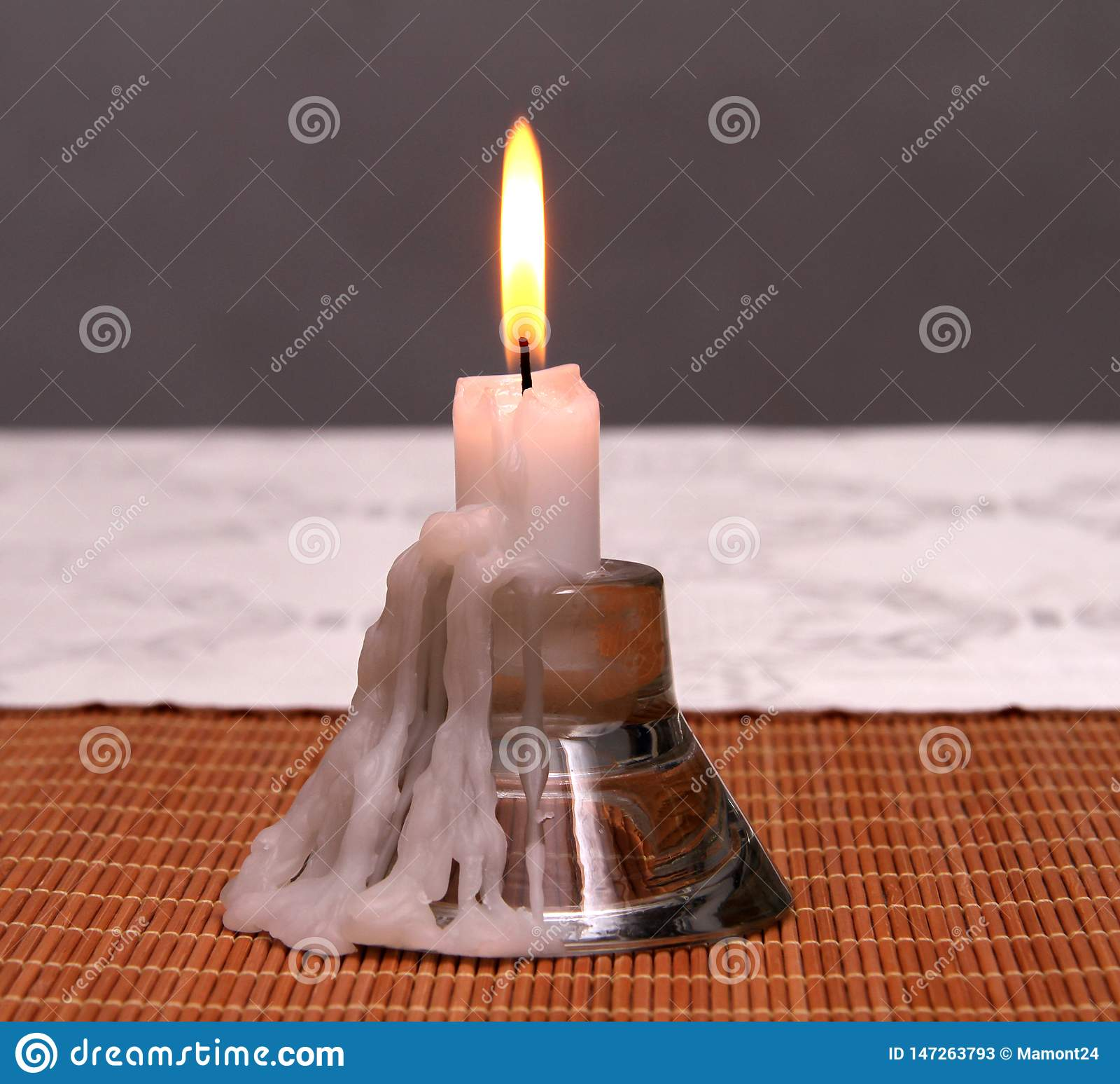 Ljusstake för en stearinljus