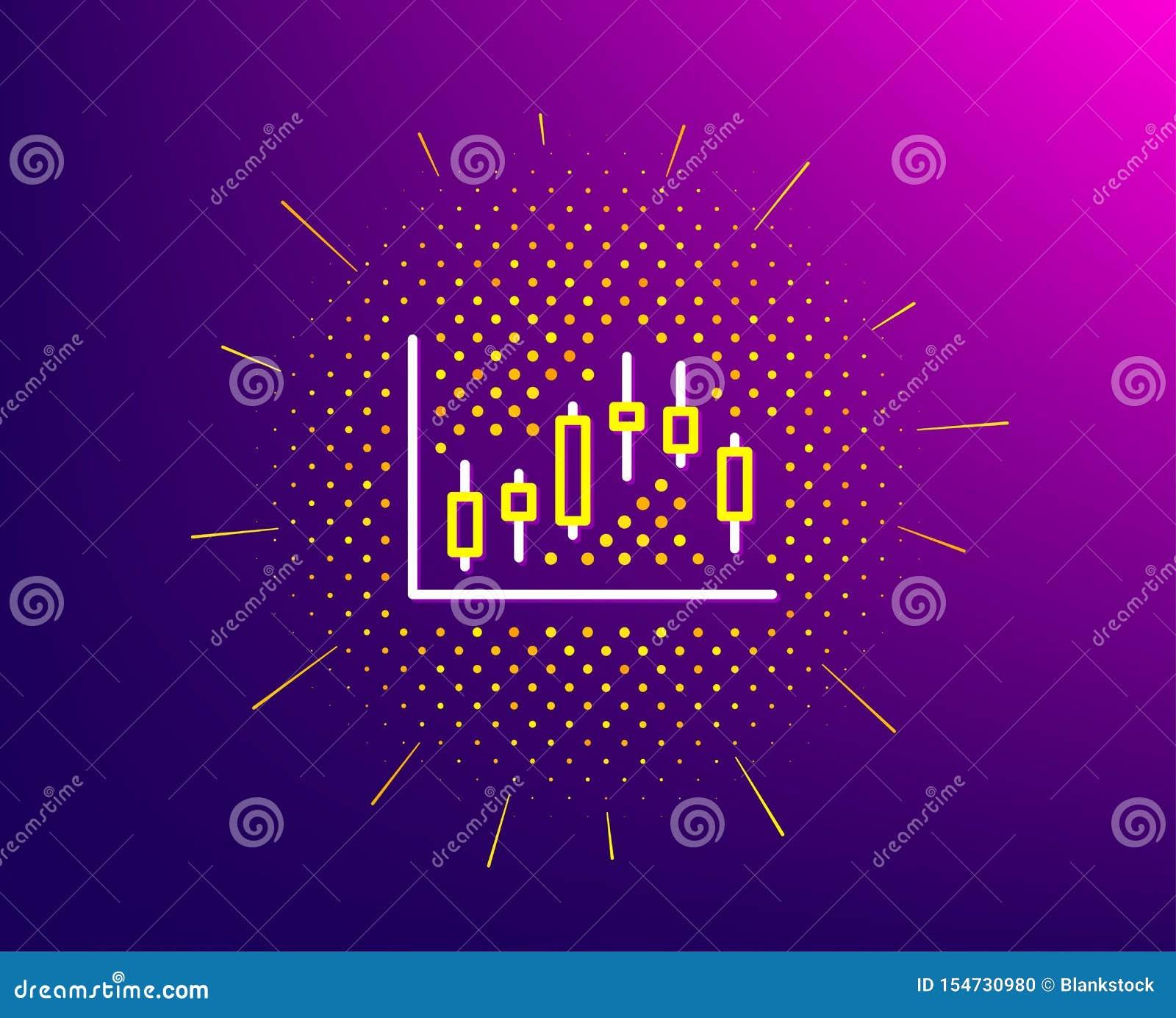 Ljusstakediagramlinje symbol Finansiell graf vektor