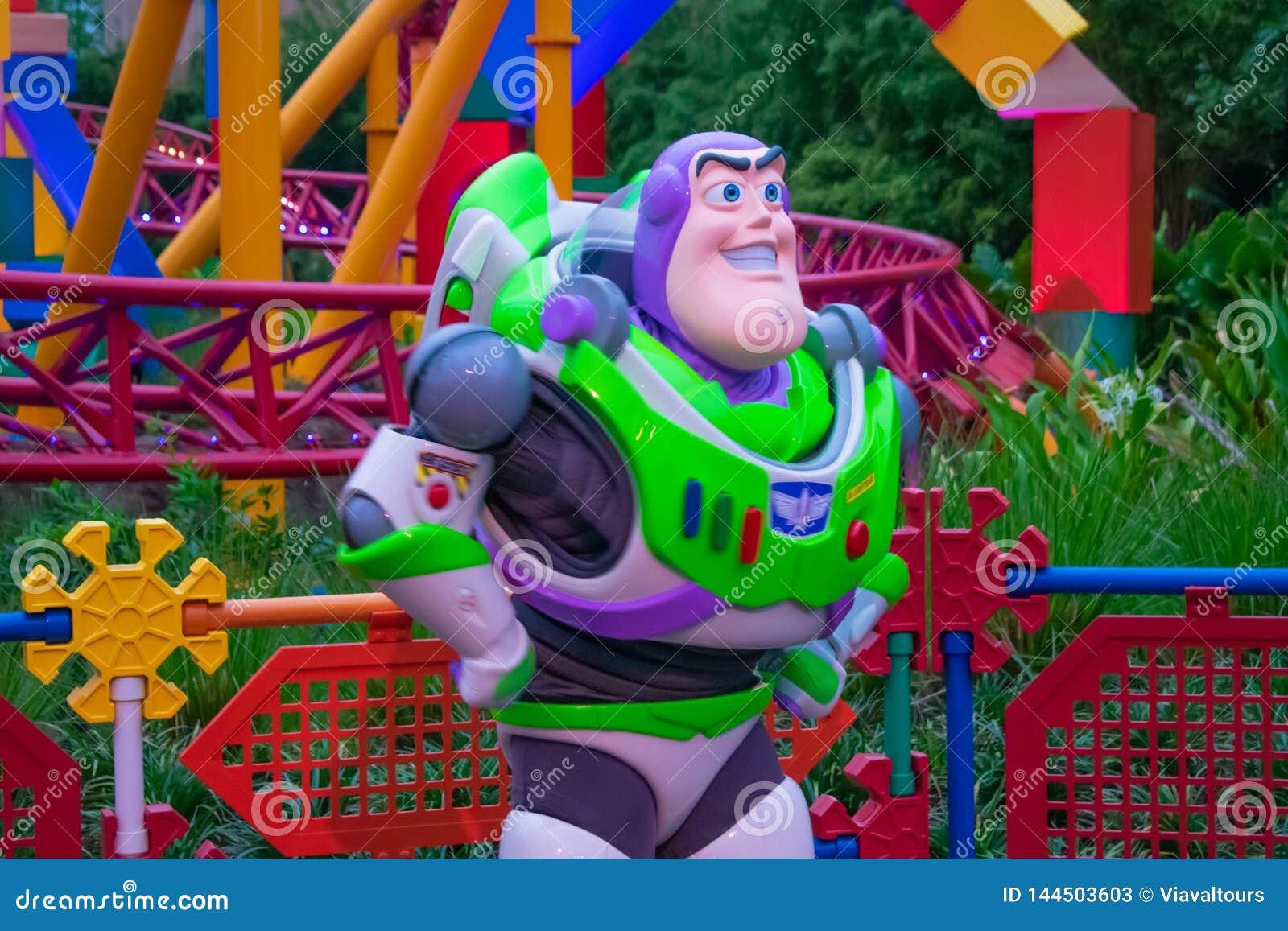 Ljust år för rykte på färgrik bakgrund i Hollywood studior på Walt Disney World område 2