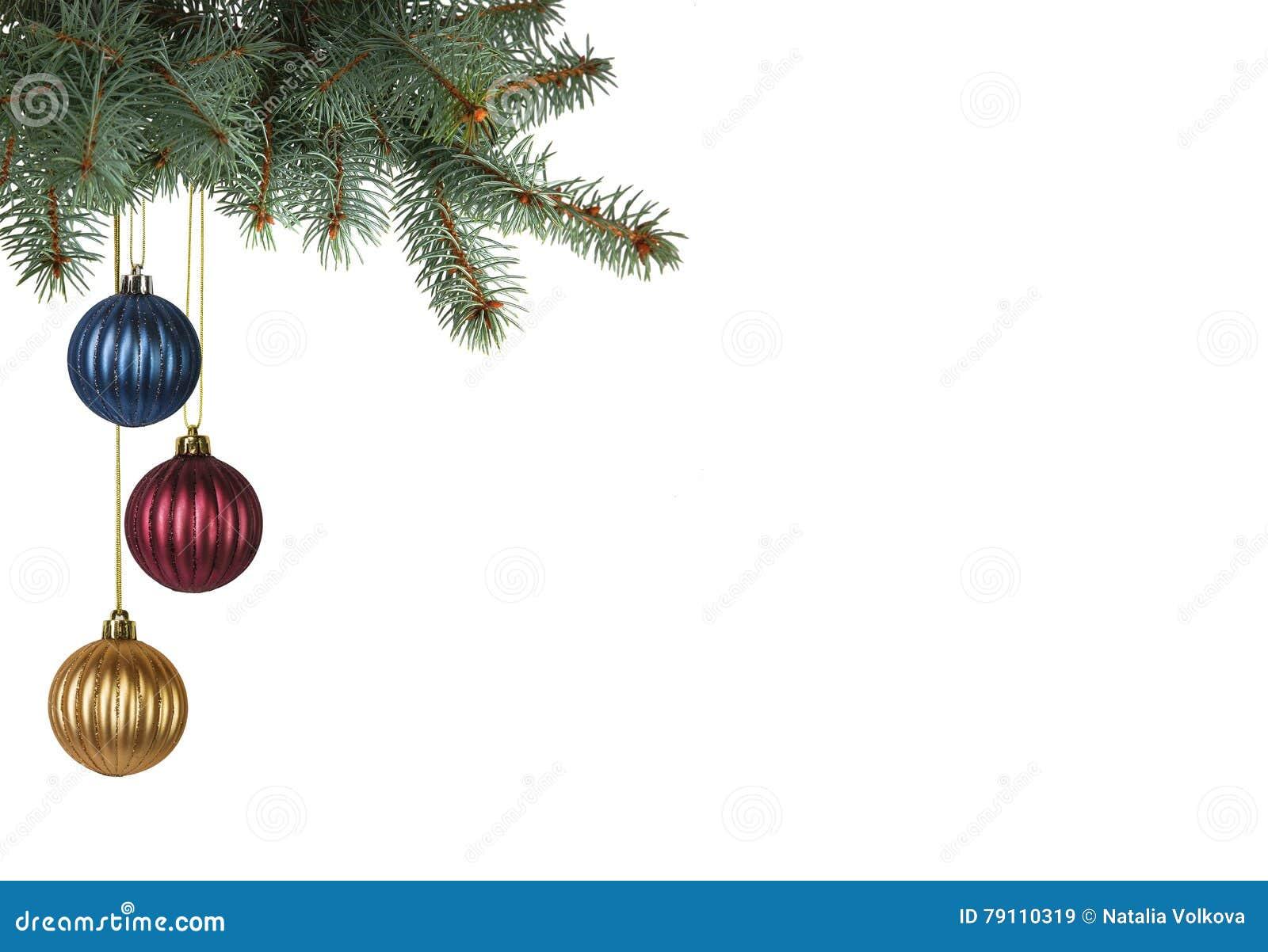 Ljust Färgad Jul Klumpa Ihop Sig Att Hänga Från Julträd ...