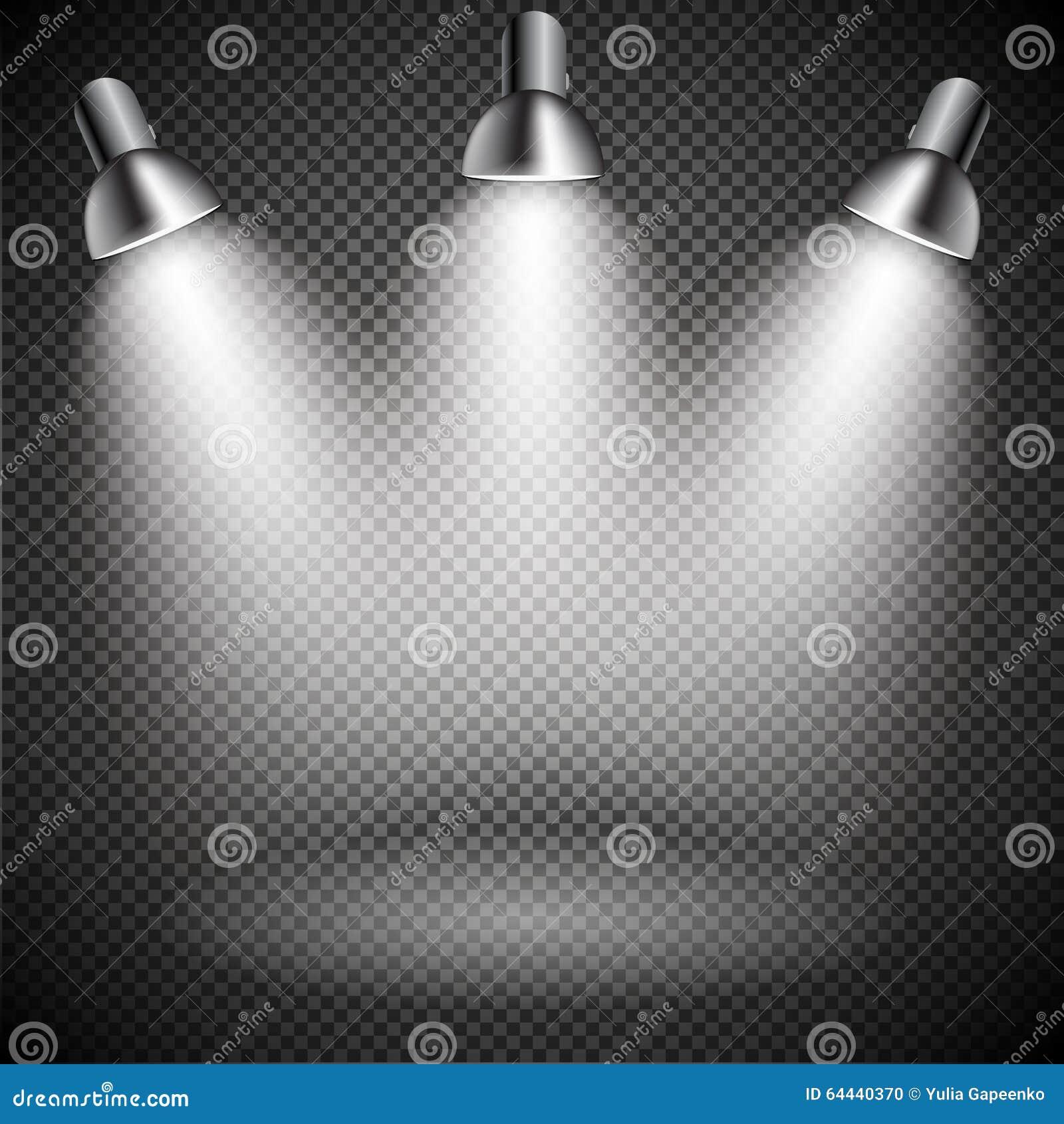 Ljust med belysning riktar uppmärksamheten på lampan