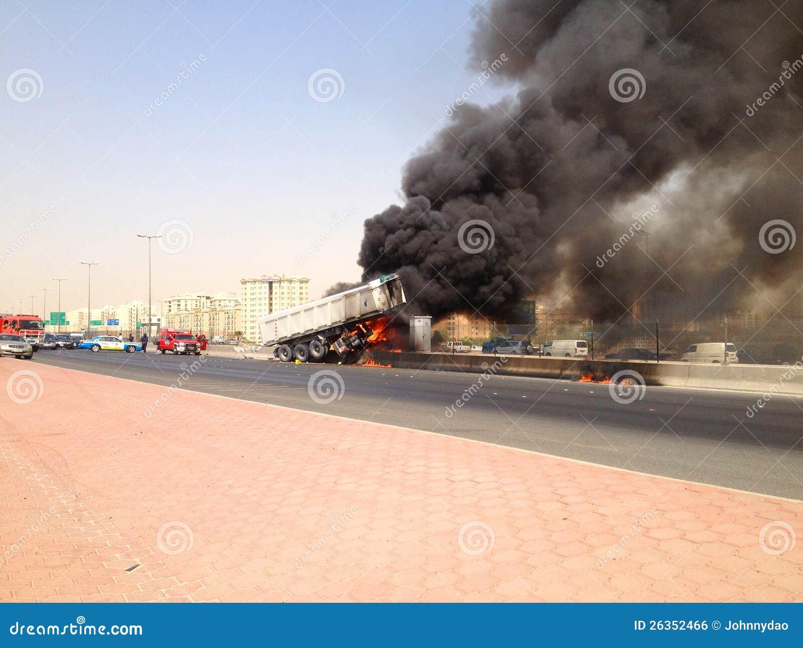 LKW-Unfall in Farwaniya, Kuwait