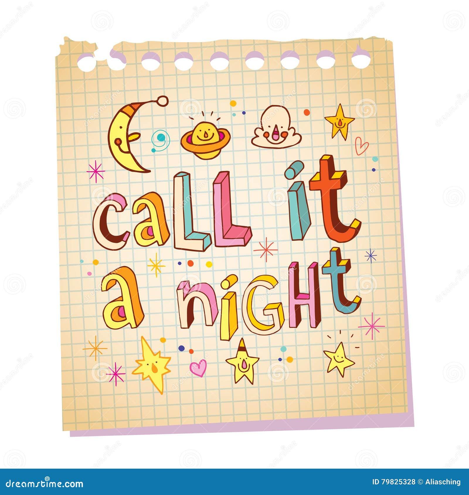 Llámelo Una Frase Hecha De La Noche Las Letras únicas