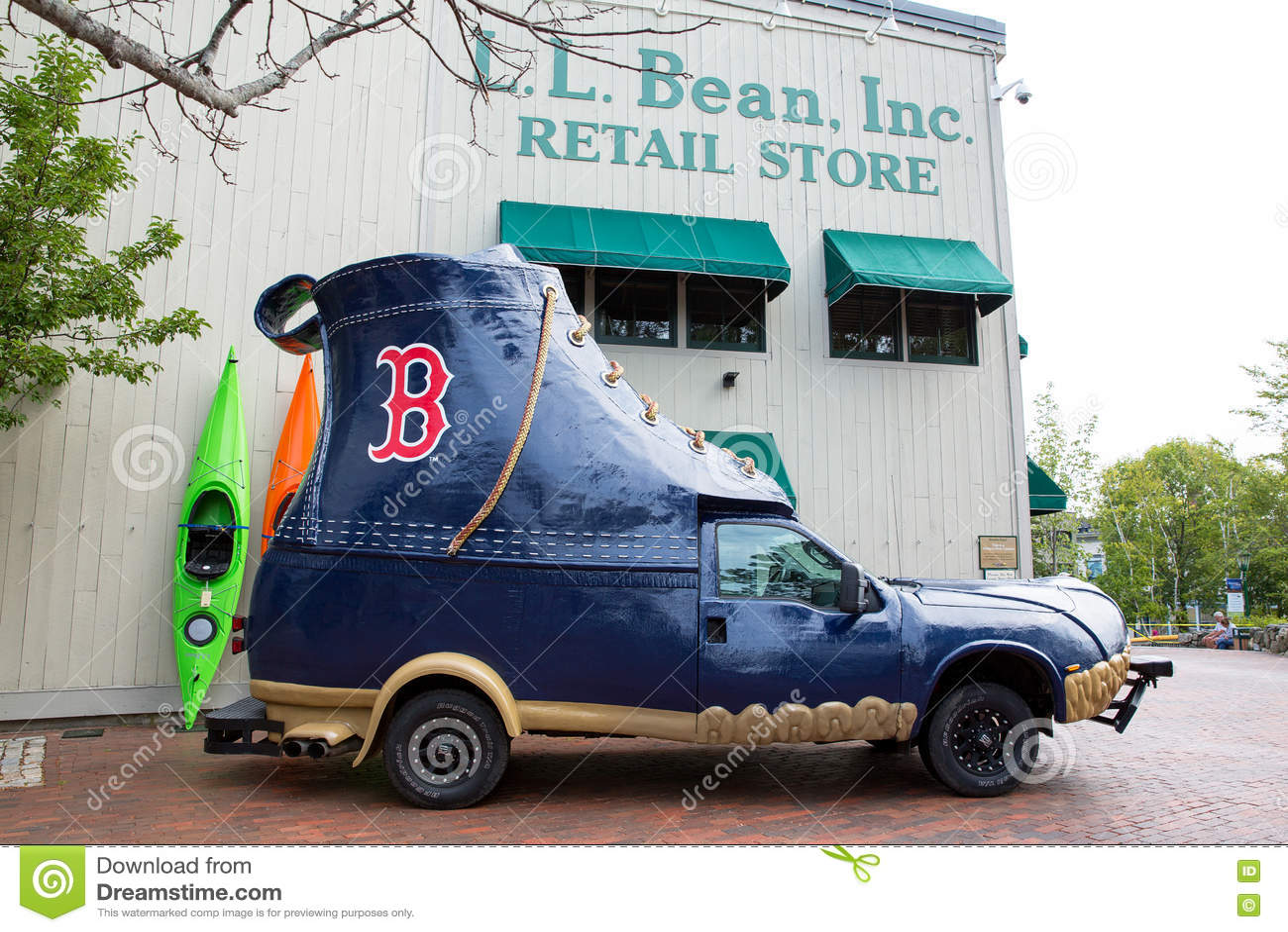 LL Bean boot vehicle